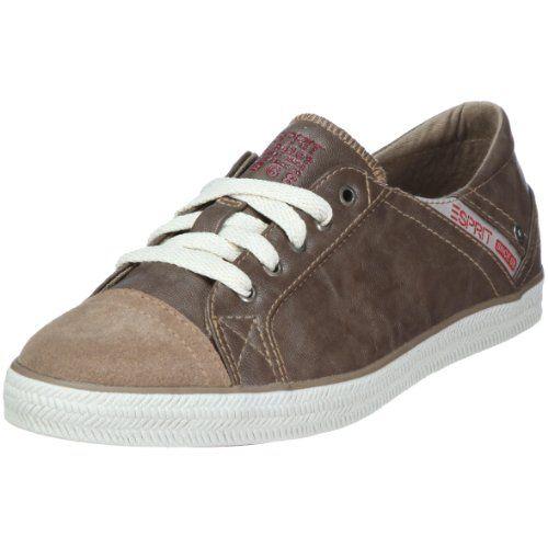 Sita Lace Up, Sneakers Basses Femme, Gris (Light Grey), 37 EUEsprit