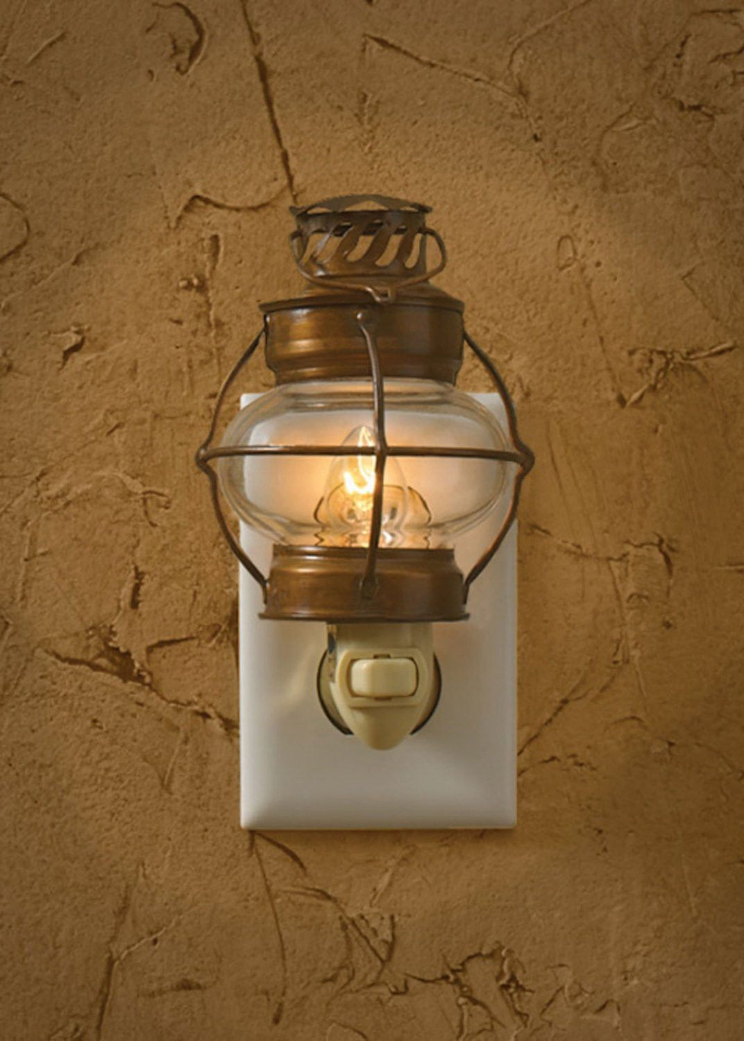 Charming Sea Lantern Night Light Gives Off A Nice Warm Soft - Bathroom light fixture with on off switch for bathroom decor ideas