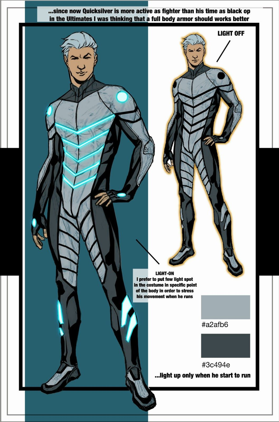 character model � ultimate quicksilver by david messina