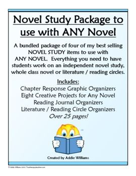 Everything you need to start an independent novel study, whole class book study, literature circle and more! ($)