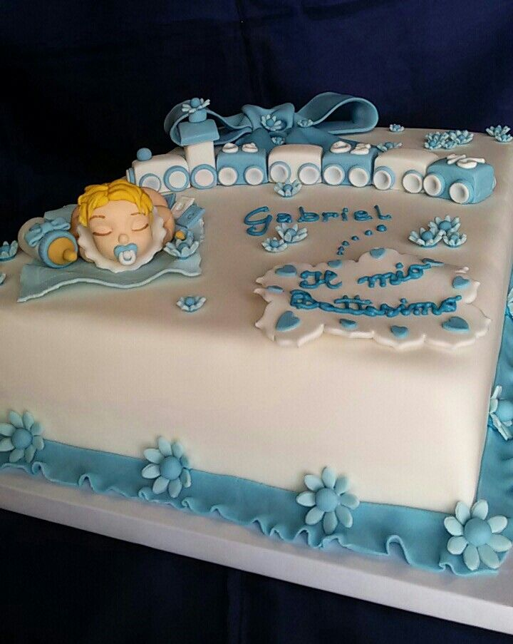 abbastanza Torta battesimo bimbo | Le mie torte in pdz | Pinterest IU44