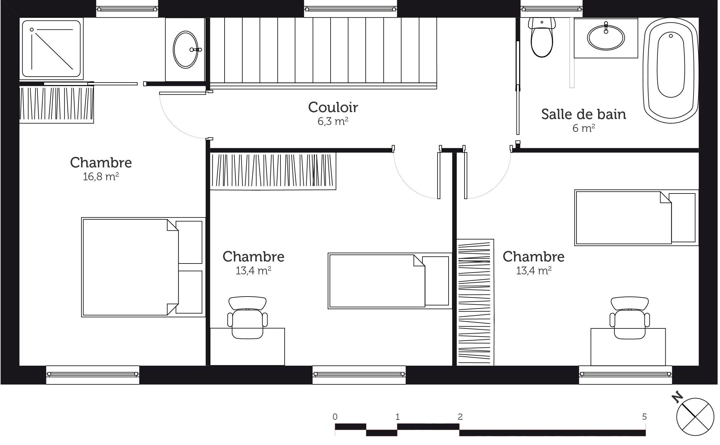 Plan De Maison A Etage 3 Chambres Infos Et Ressources 15
