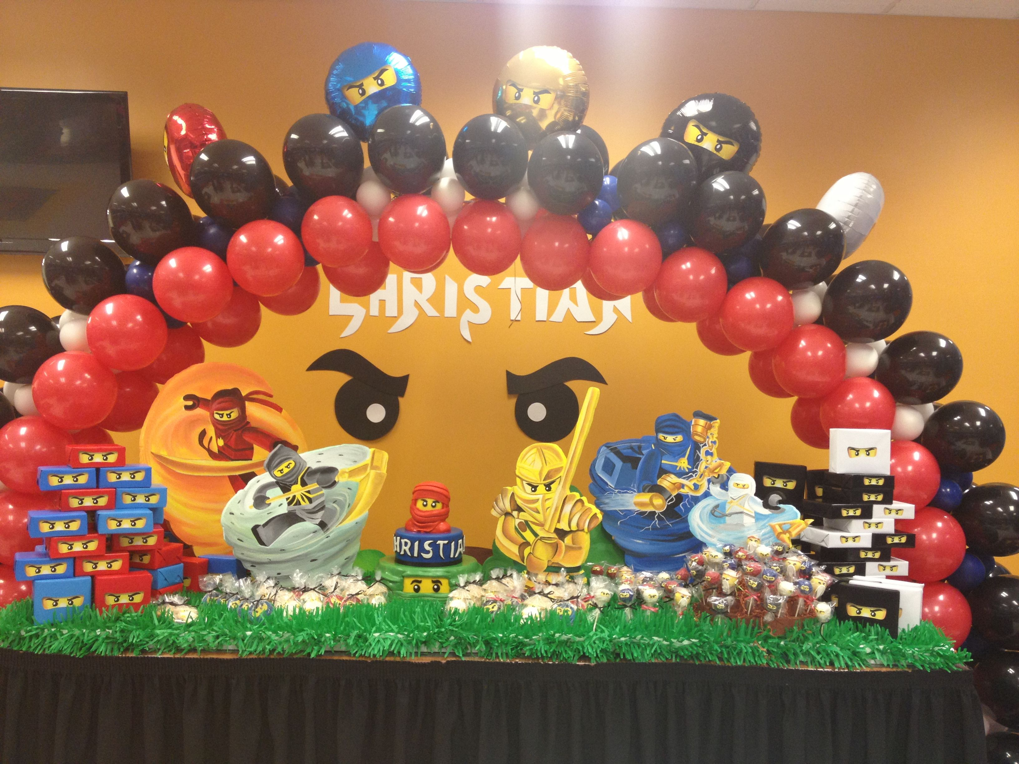 NINJAGO party decoration Ninjago party, Ninjago balloons