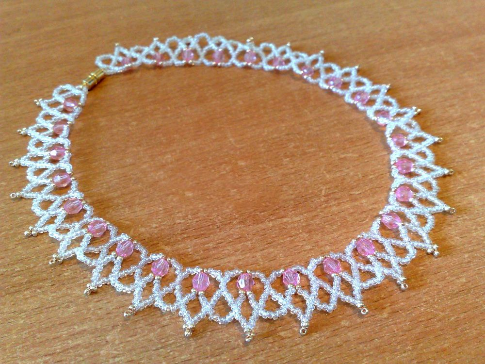 Free Pattern For Necklace Stefani Beadwork Pinterest Beads Fascinating Seed Bead Patterns