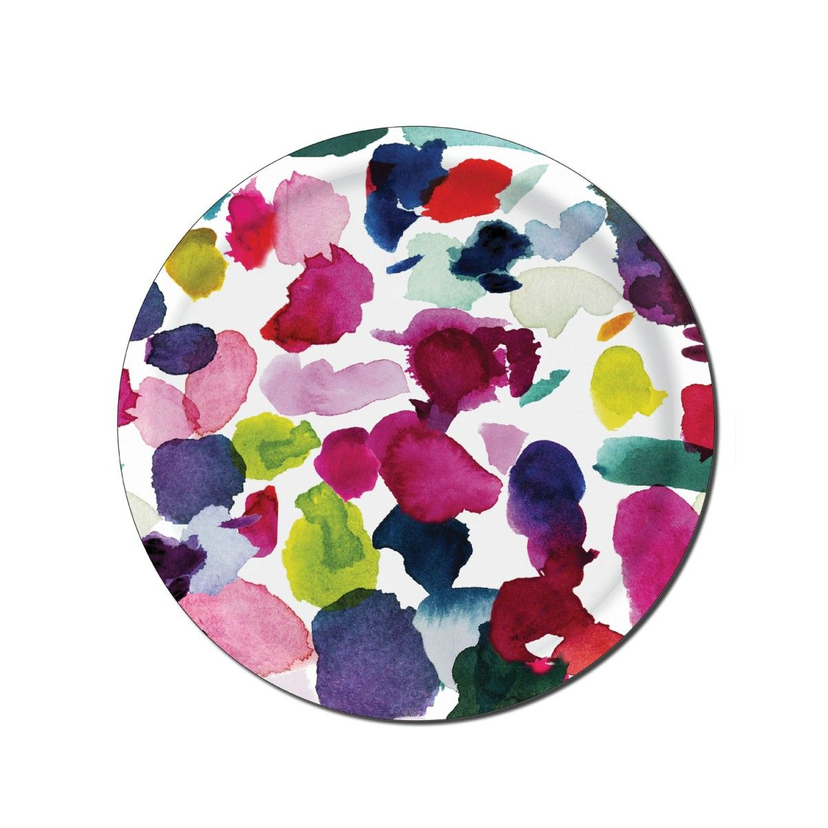 Abstract Circular Tray Bluebellgray, Floral bedding