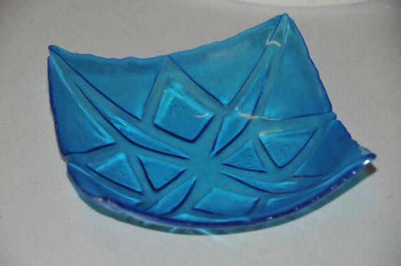 Beautiful carved glass bowl by PennersGlass on Etsy