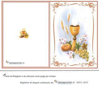 Prima Comunione Bigliettini Da Stampare Lavoretti