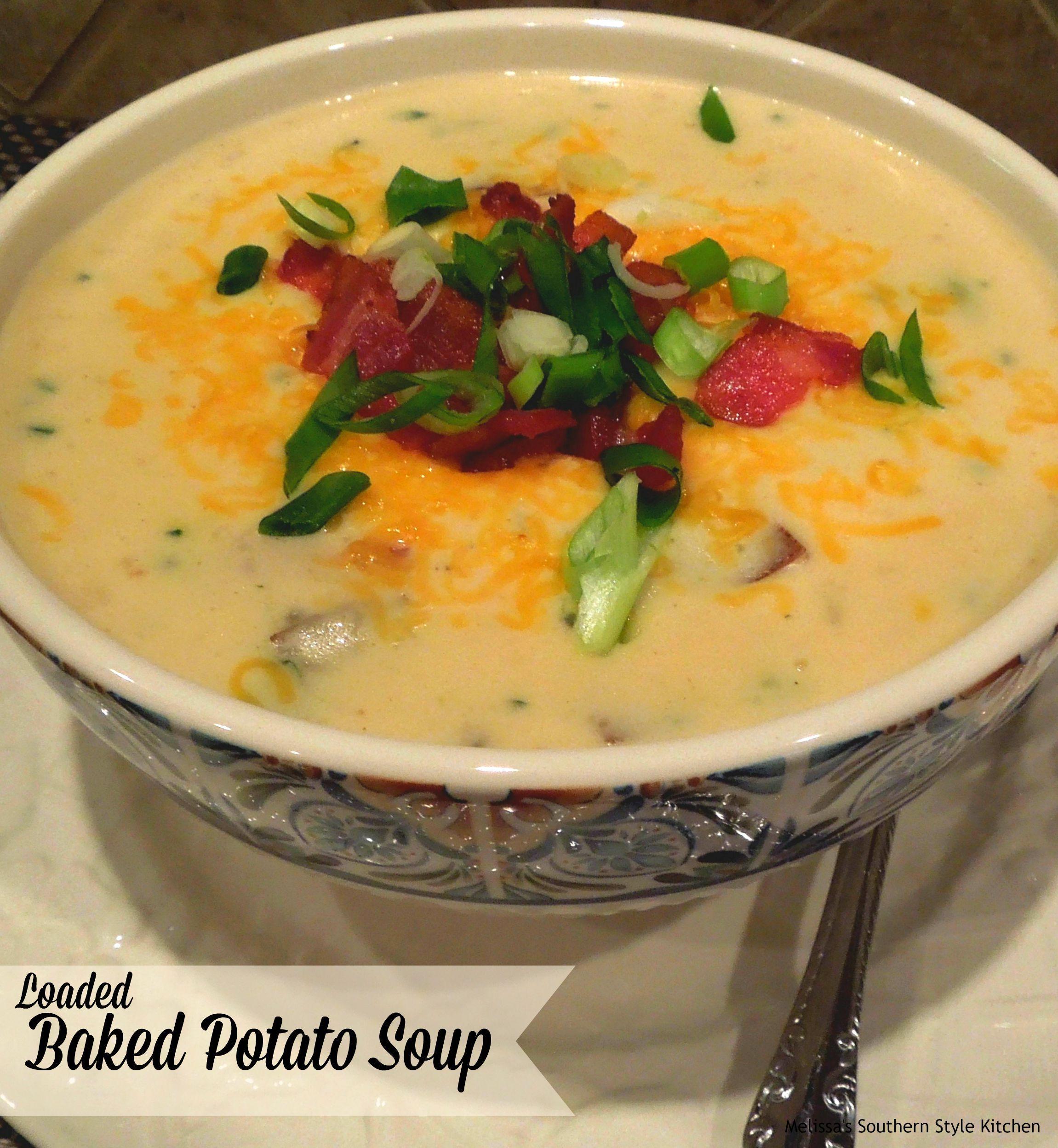 Loaded baked potato soup pastas cremas sopas for Ideas para cocinar pasta