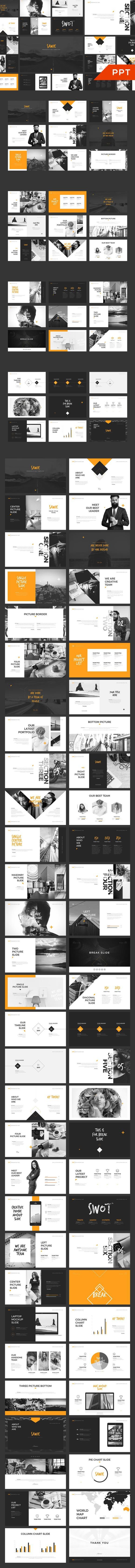 sawie powerpoint template | presentation templates | pinterest, Powerpoint templates