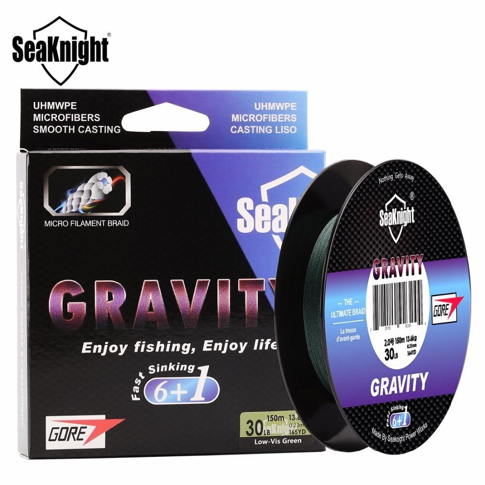 Find More Fishing Lines Information About Seaknight Gravity 7 Strand Weaves Fluoro Sinking Braided Fishing Line 150m 6 Braided Lin Pesca Agua Dulce Hundimiento