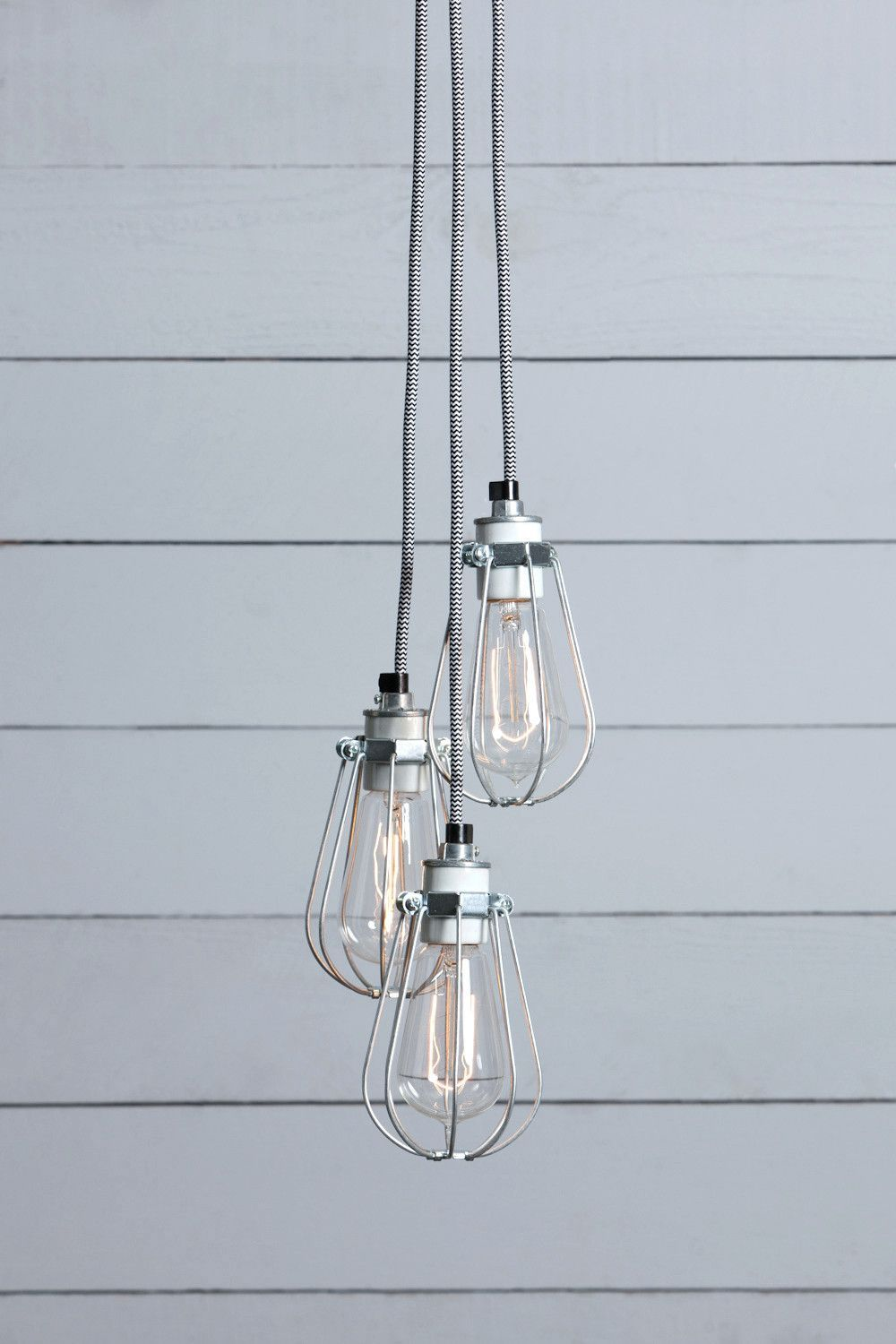 Wire Cage Chandelier - 3 Light Cluster | Chandeliers, Ceiling canopy ...
