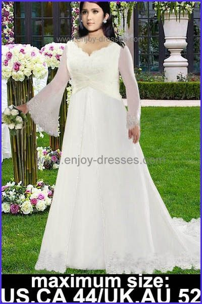 lace plus size wedding dresses with sleeves-maximum size:Canada,US ...