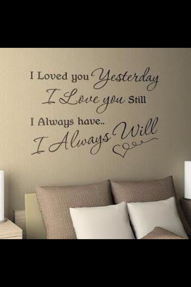 Above Bed Valentine Quotes Letter Wall Wall Quotes