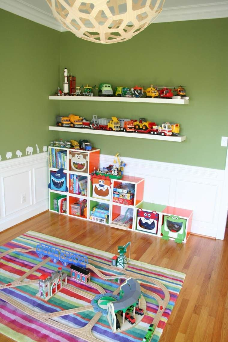 rangement salle de jeux enfant 50 id es astucieuses. Black Bedroom Furniture Sets. Home Design Ideas