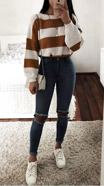 Herbst-Winter-Outfits Modetrends nur ein Mädchen – #a #autumnwinteroutfits # …..