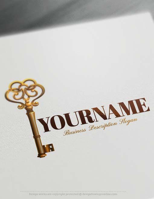Create Online Free Vintage Key Logo Design Free Logo Maker Vintage Logo Maker Logo Design Free Logo Design Software
