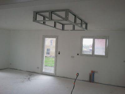 Rail placo plafond chassis suspendu montant r45 m45 - Faux plafond suspendu lumineux ...