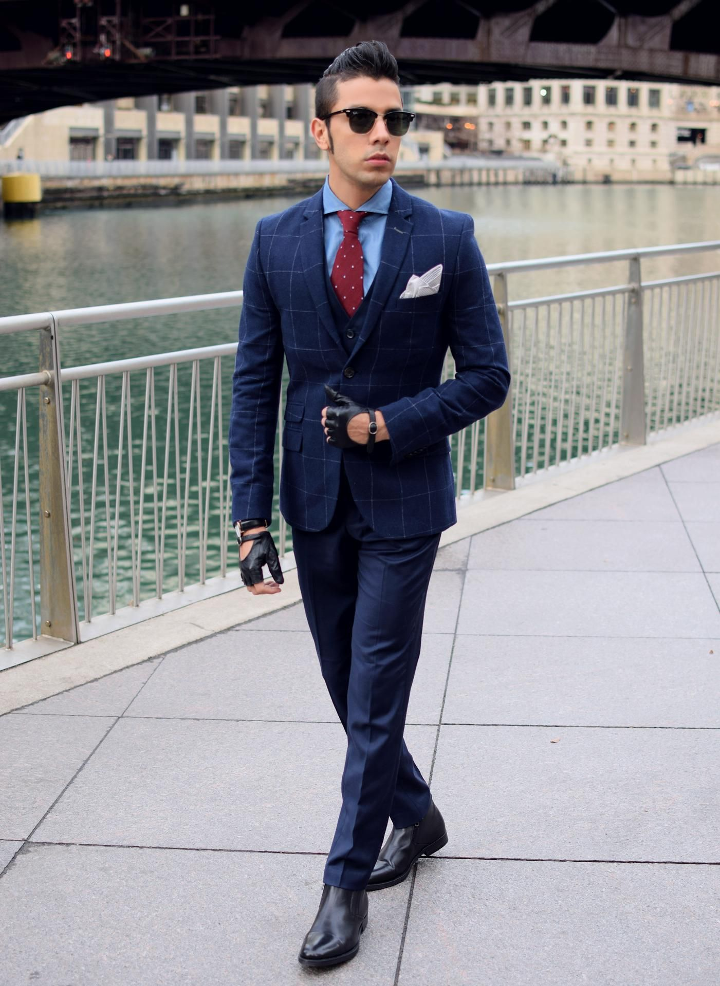 be007325b1f7 Chelsea boots with navy suit from The Mood Maker - Frankodean ...