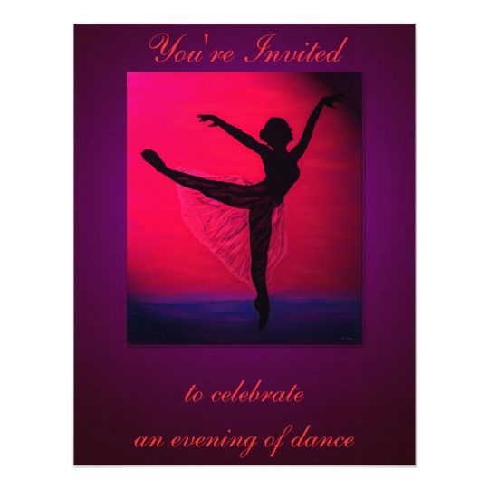 Dance recital custom invitation dance recital custom invitations dance recital custom invitation stopboris Gallery