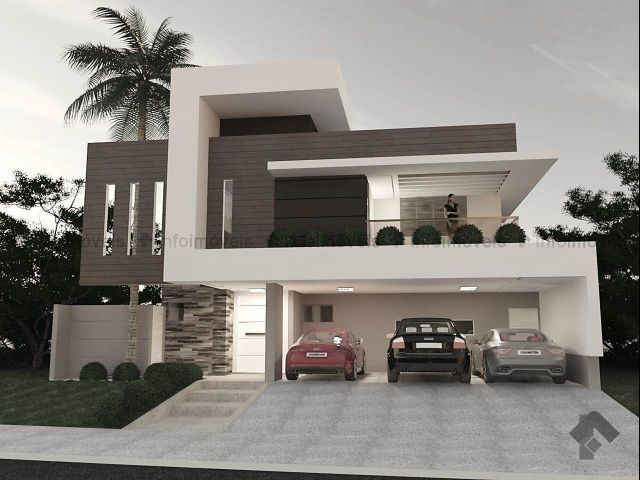 25 melhores ideias de fachada sobrado no pinterest for Casa moderna con parquet