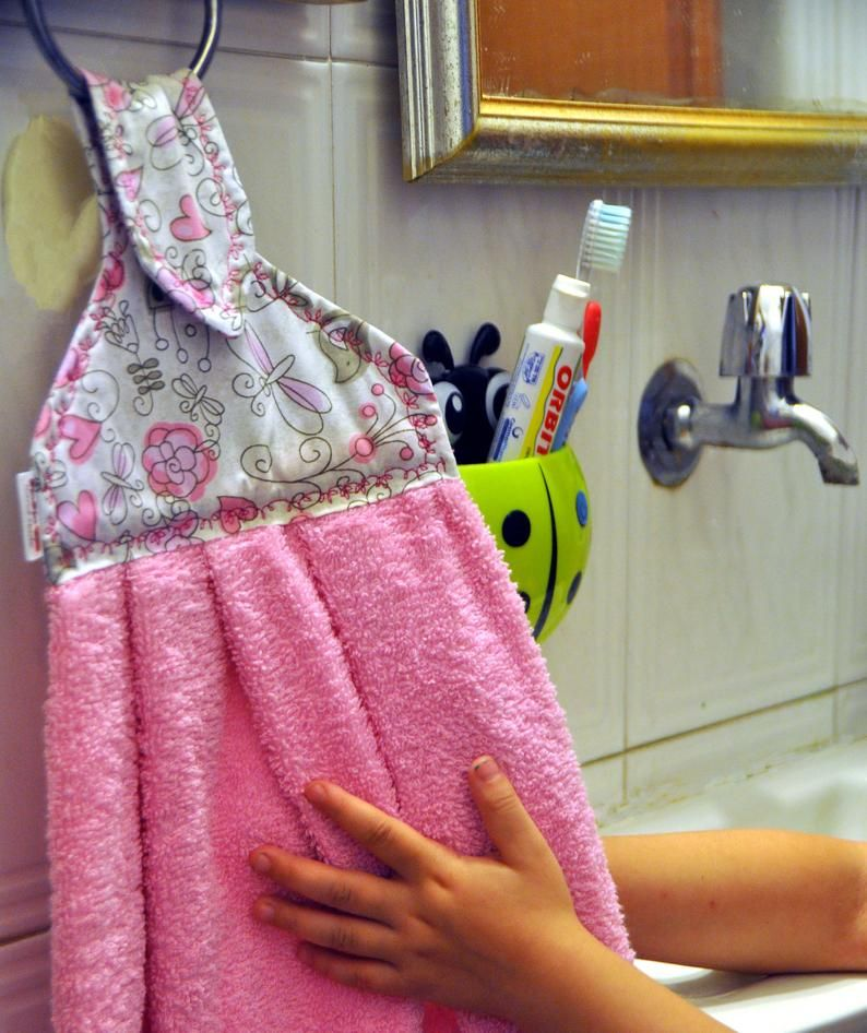 Pink Hanging Hand Towel Hand Towels Kitchen Hanging Towel Dish