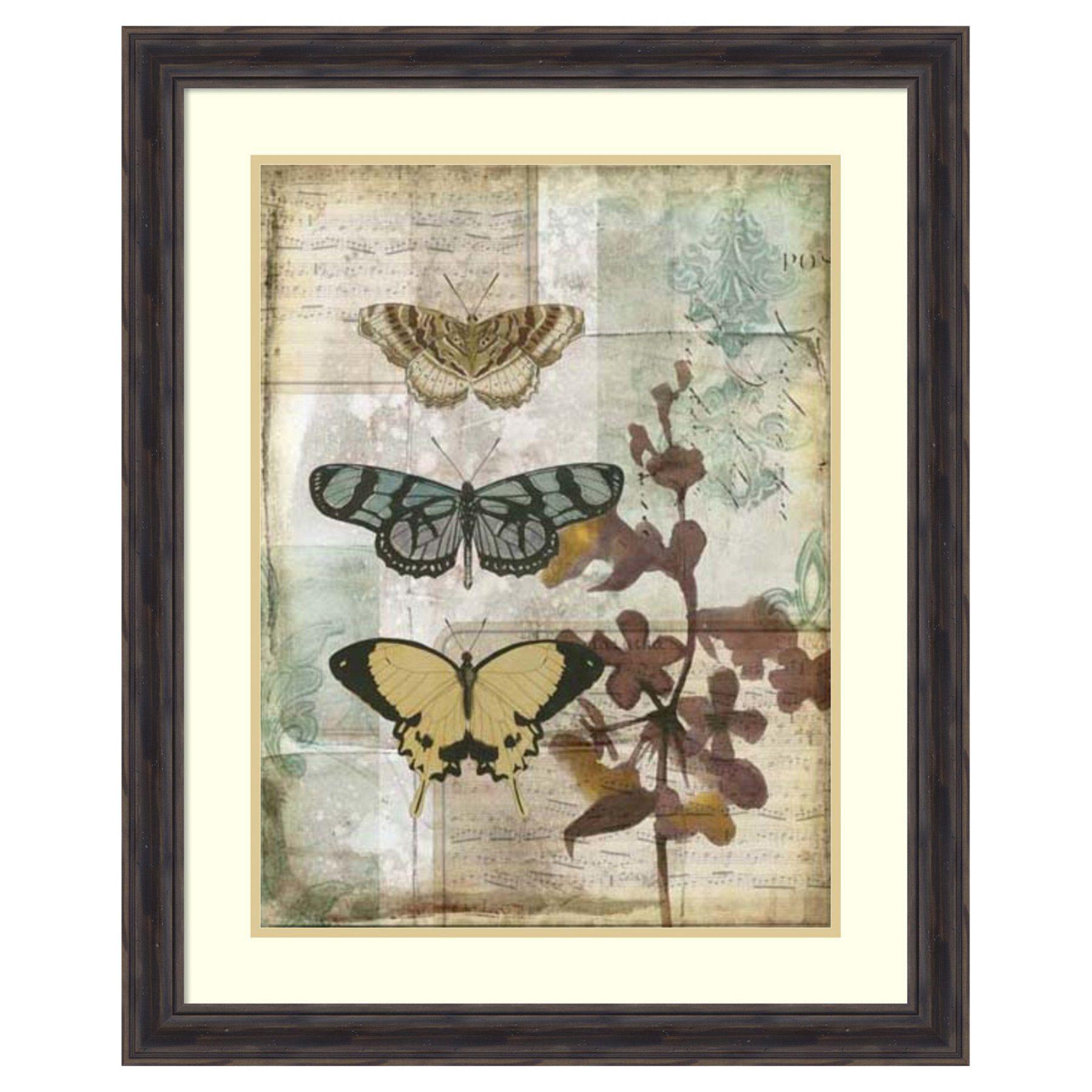 Amanti Art Framed Print Music Box Butterflies I By Jennifer Goldberger Framed Art Prints Butterfly Wall Art Graphic Art Print