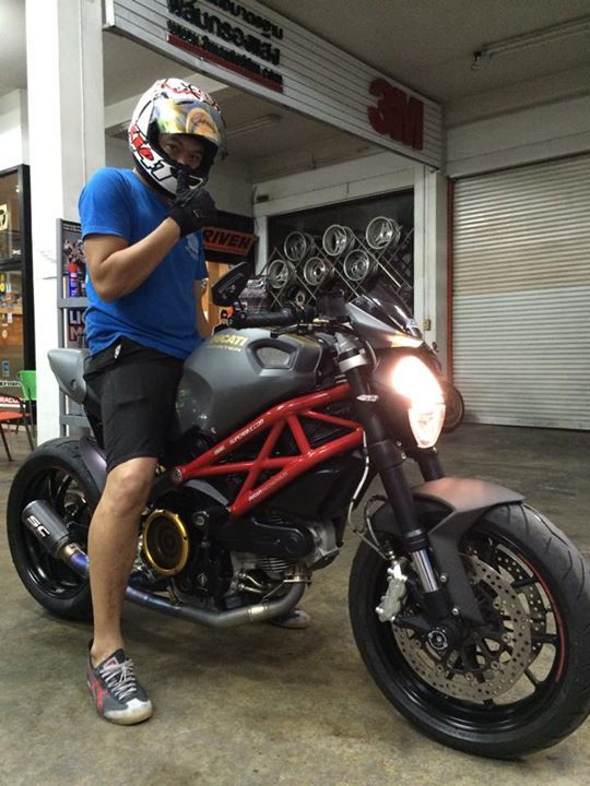 Satin Grey Ducati Monster 796 With A Low Slung Titanium Sc Project