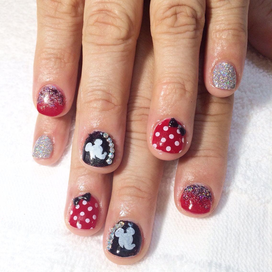 Disney inspired nails acrylic overlay   Nails   Pinterest