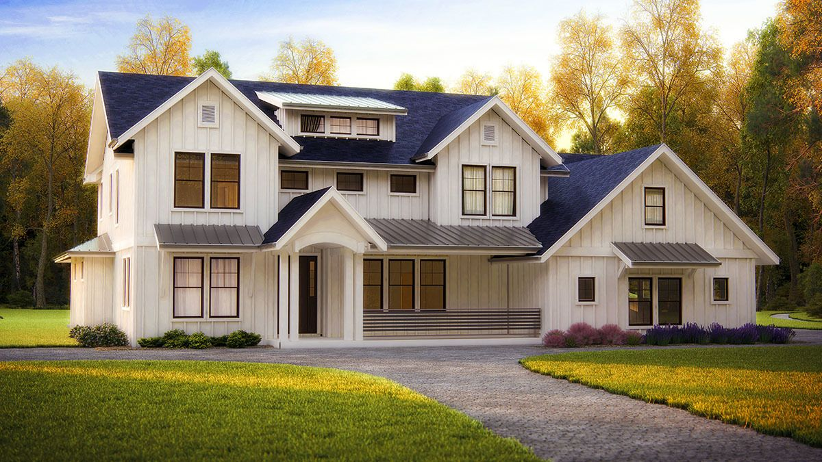 Plan 95041rw Modern Farmhouse With Optional Bonus Room Modern Farmhouse Plans Craftsman House Plans Farmhouse Plans