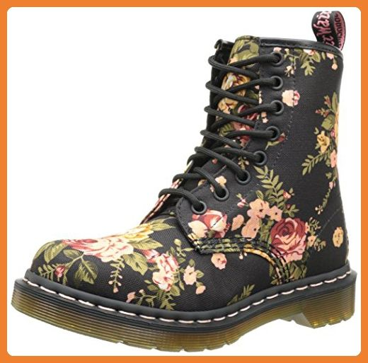 Dr Martens 1460 Victorian Flowers Black Damen Bootsschuhe Schwarz Black 38 Eu 5 Damen Uk Stiefel Blumen Stiefel Dr Martens Stiefel Frauen In Stiefeln