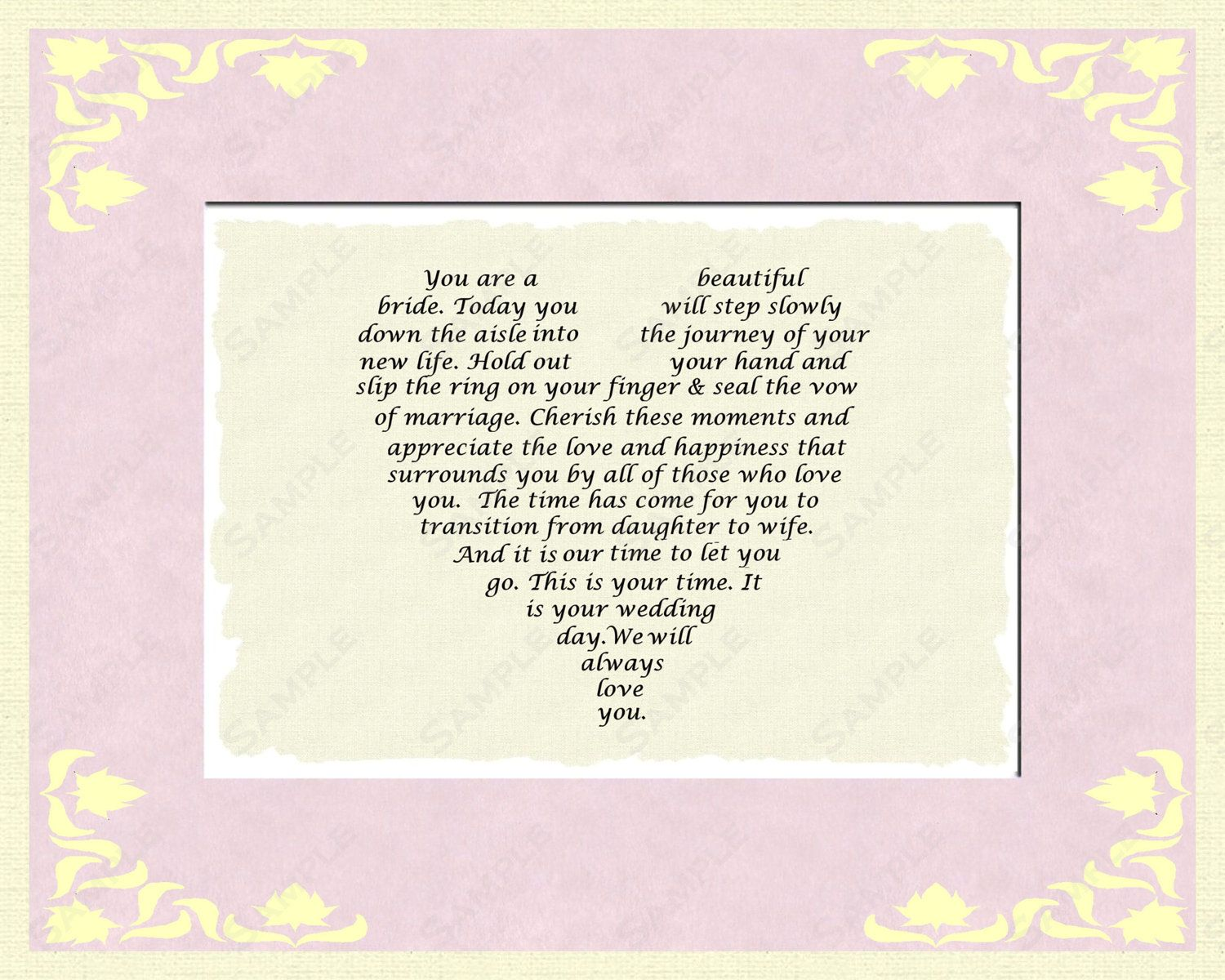 Poem From Mom To Daughter On Wedding Day 03