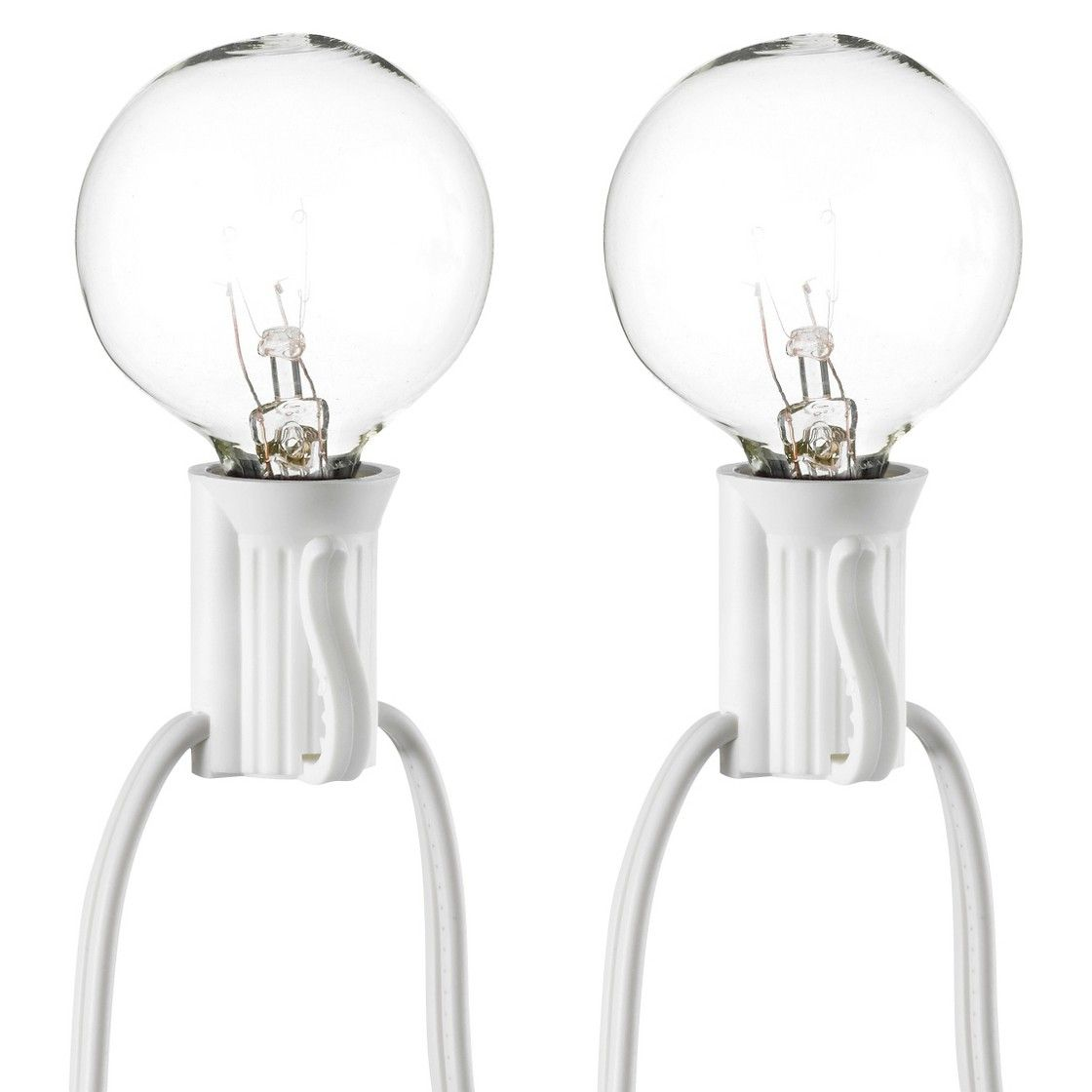 $14.99 Room Essential 25ct Clear Globe String Light White Wire ...
