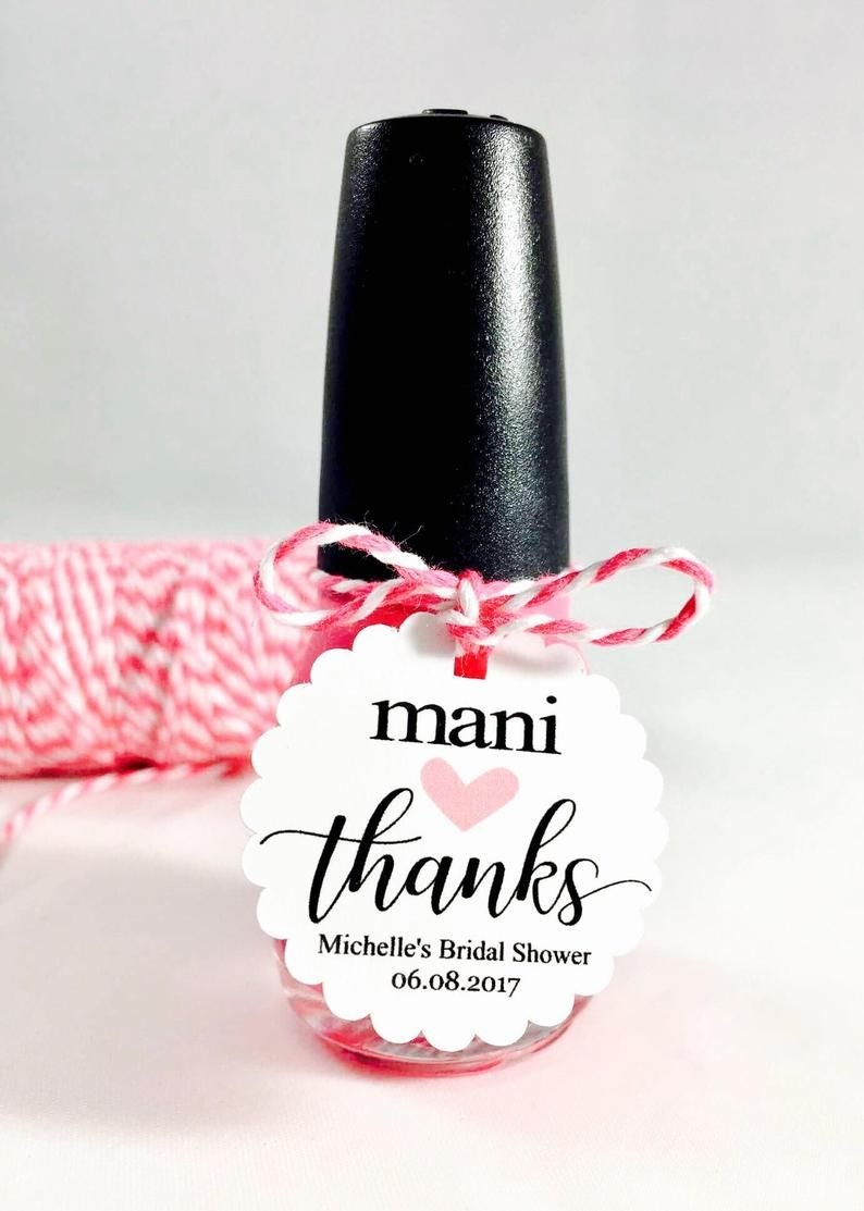 Mani Favor Tags, Mani Thanks, Nail Polish Gift Tags, Thank