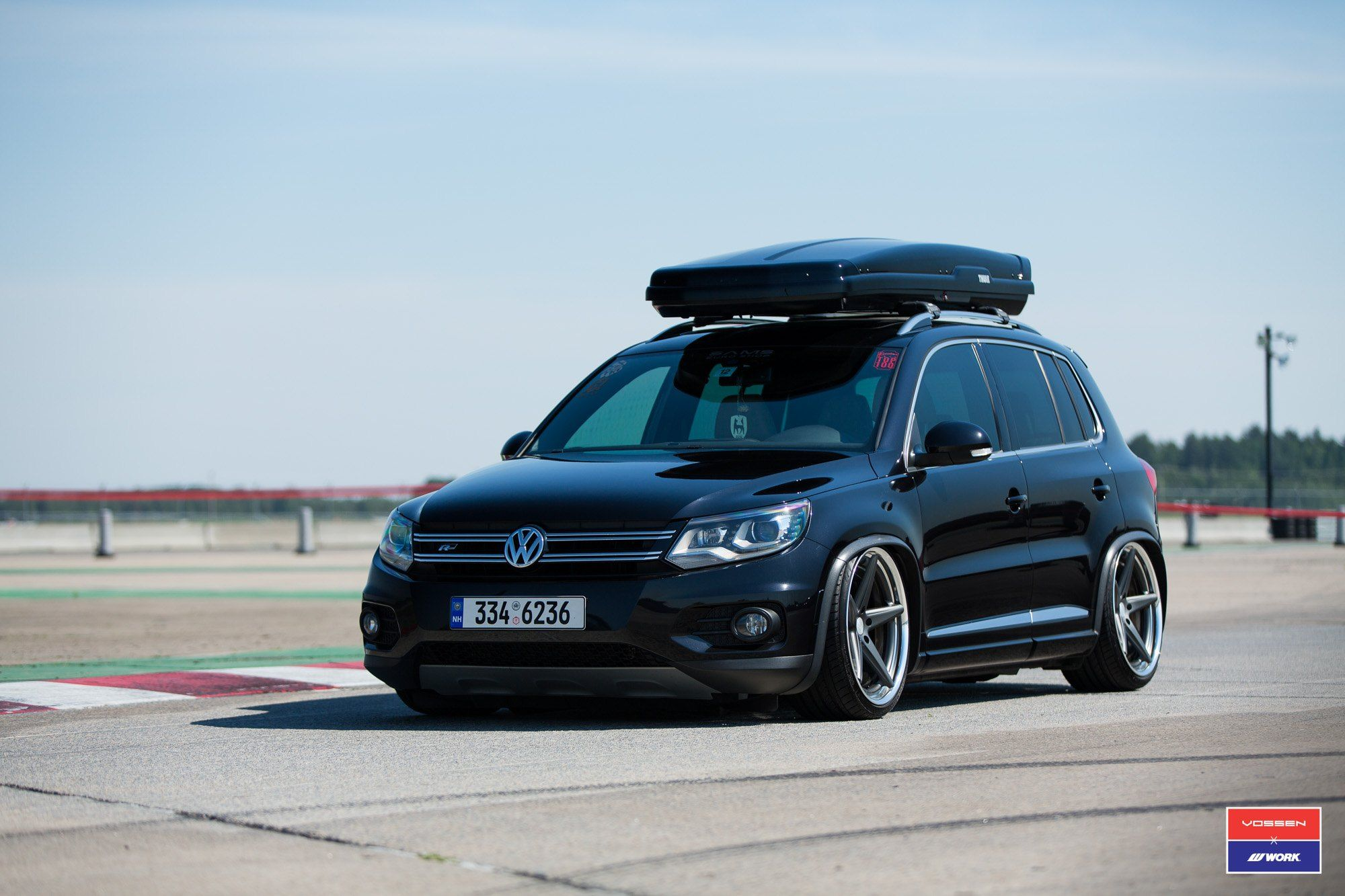 Black Volkswagen Tiguan Boasts Thule Roof Rack And More Goodies