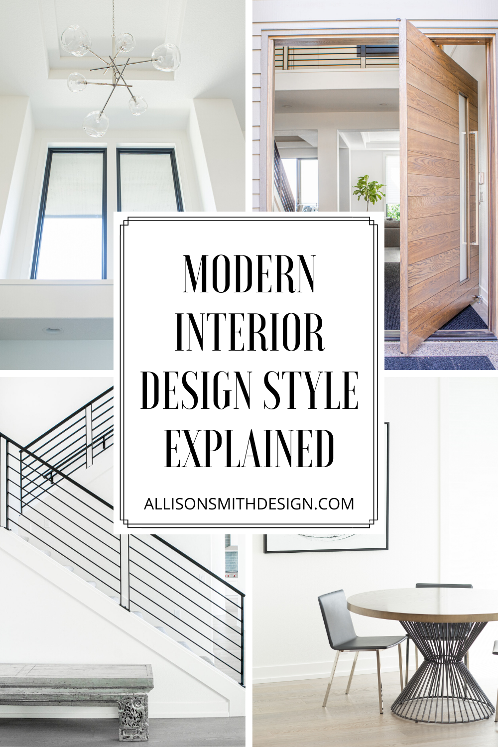 Big fans of modern home decor believe it is the perfect blend of simple details, natural elements, and neutral colors. Learn what makes modern design such a popular look! by Allison Smith Design in Portland, OR #moderndesign #moderndecor #modernstyle