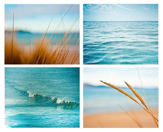 Coastal Prints Set 8x10 8x12 8x8 Nautical Decor Ocean Photography