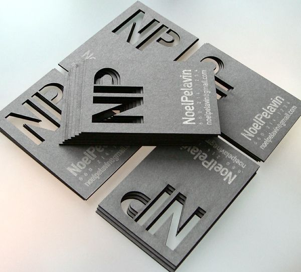 Noel Pelavin S Laser Cut Business Card