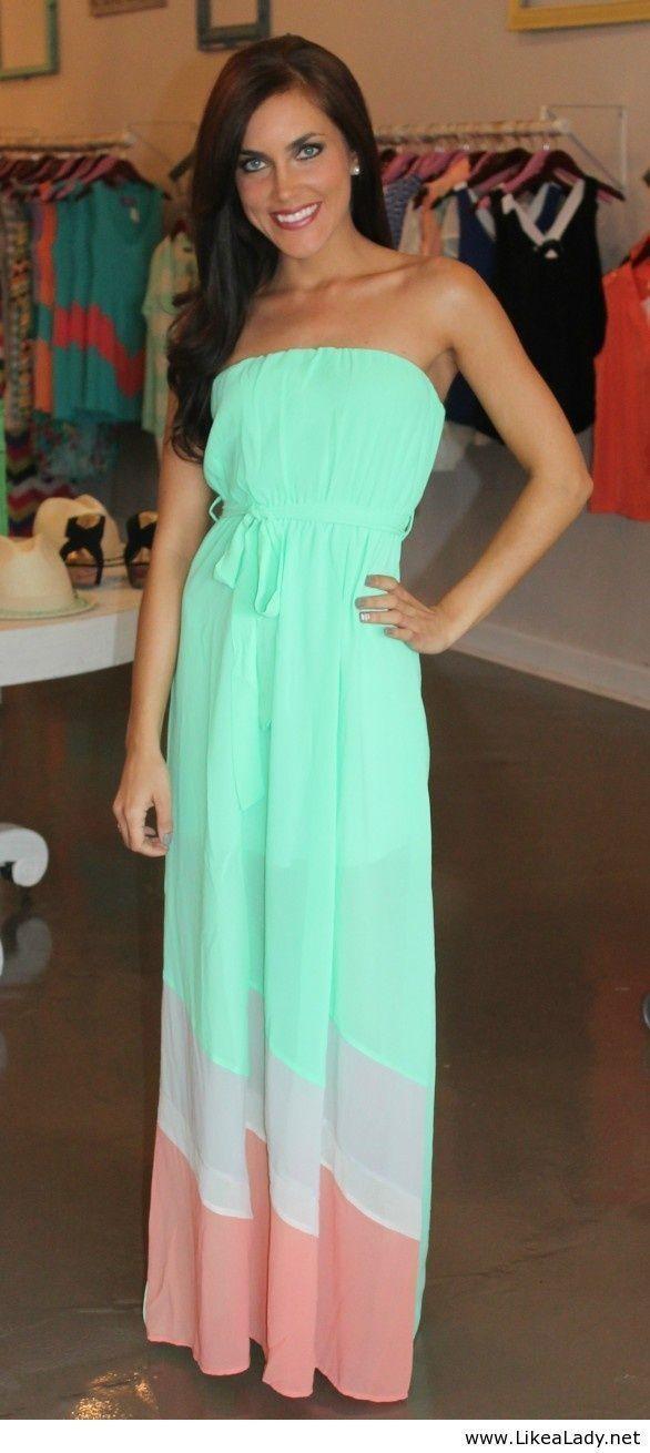 Wish I was a little bit taller... Long summer dress 2014 find more women fashion ideas on www.misspool.com
