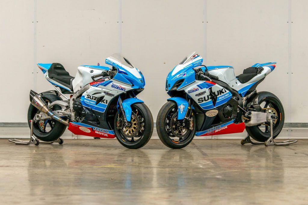 Team behind the XR69 and RG500 racebikes having a go with Suzuki GSX-R1000s at 2020 TT.