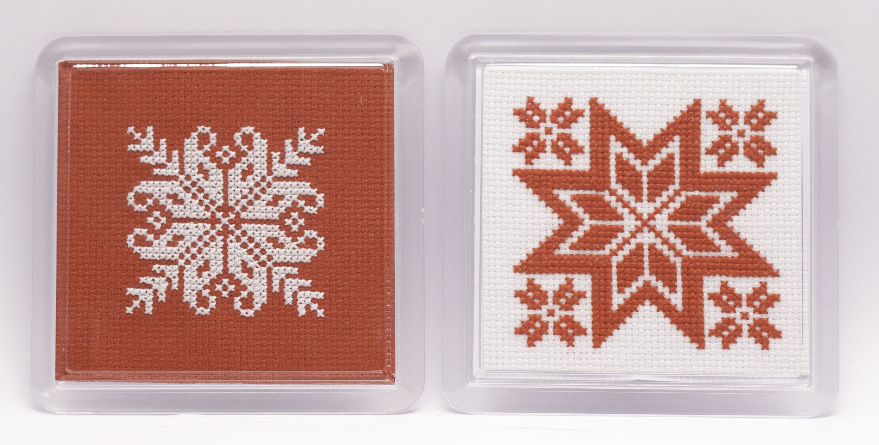 Nordic Christmas homeware cross stitch kit. Perfect gift for yourself or a loved one. Trend led, yet simple to stitch.