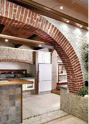 Arco taverna finto mattone arco realizzato con finti - Mattoni per cucina ...