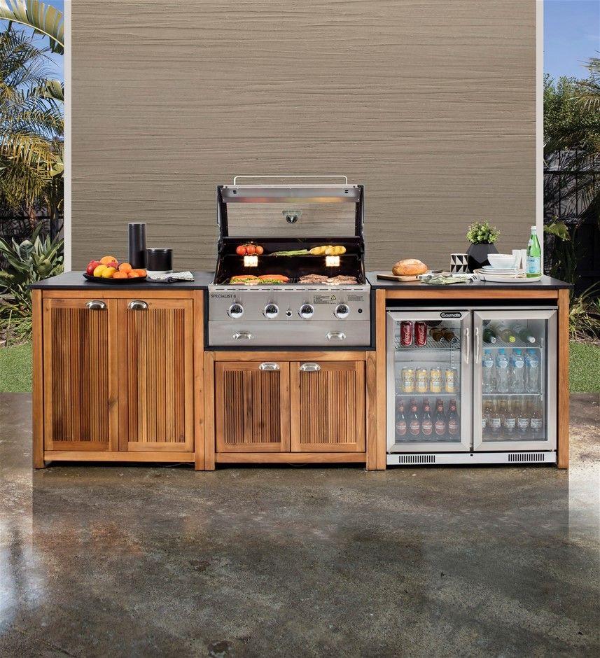 Gasmate Arcadia Timber Outdoor Kitchen Auction 0010 2505549 Graysonline Australia Small Outdoor Kitchens Outdoor Kitchen Decor Diy Outdoor Kitchen