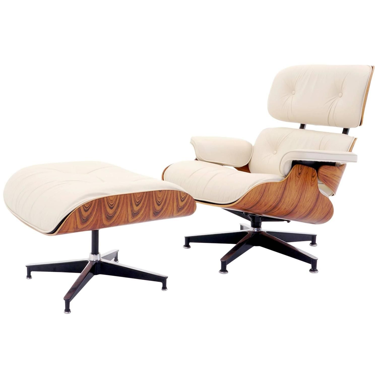Vintage Rosewood Eames Lounge Chair And Ottoman With New Herman Miller Cushions 1stdibs Com Eames Lounge Chair Lounge Chair Chair And Ottoman