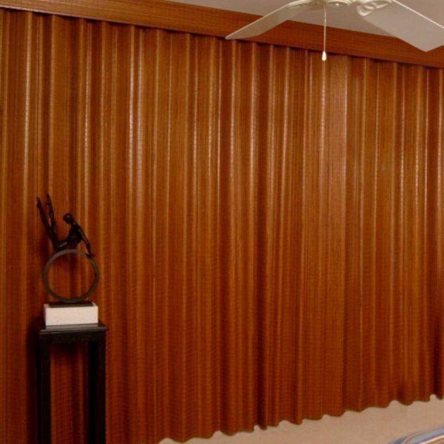 carlisle accordion ceiling mount room divider - interior room