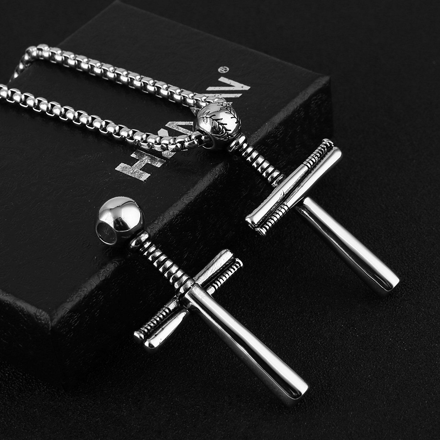 pendants baseball steel sword valentine men s snake the coiled from com mens necklace pin around yoyoon gifts boyfriend