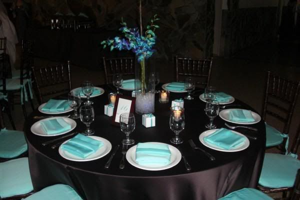 Like Black Table Clothes And Everything Else Tiffany Blue White