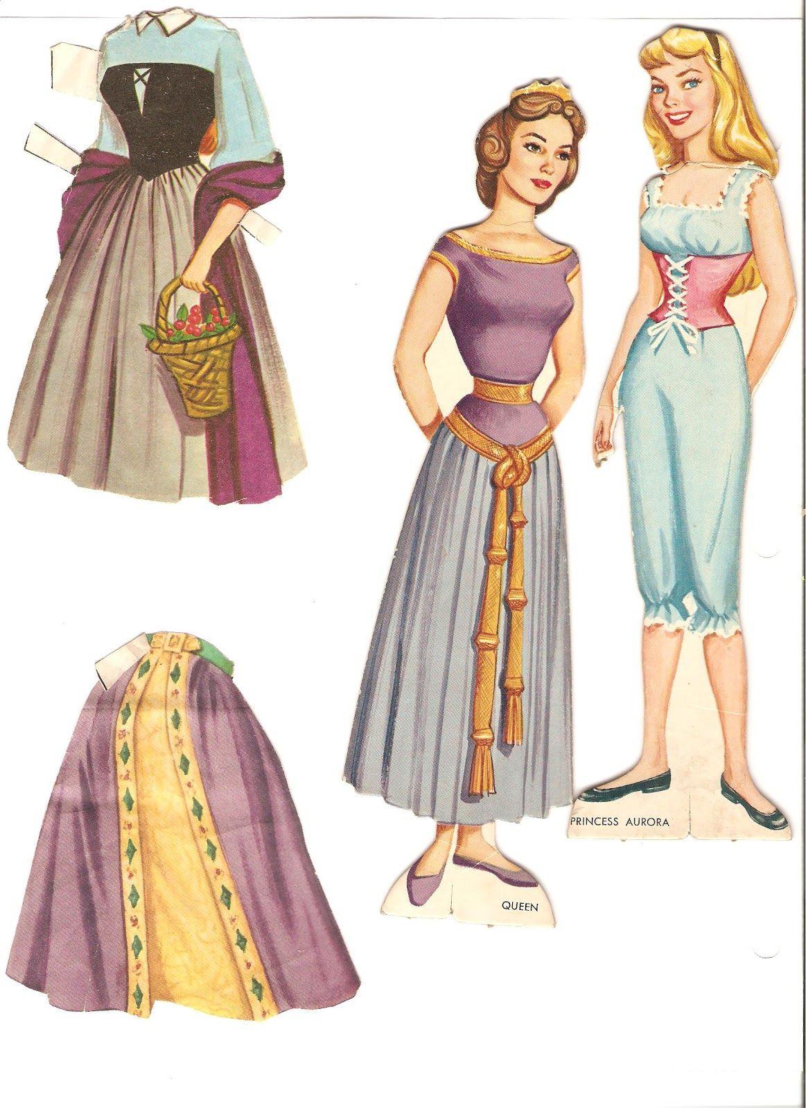 Miss Missy Paper Dolls: Disney Sleeping Beauty Paper Dolls ...