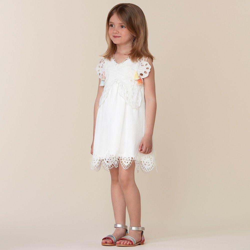 Chloe Girls White Butterfly Lace Dress Childrensalon Dresses Off White Dresses Flower Girl Dresses [ 1000 x 1000 Pixel ]