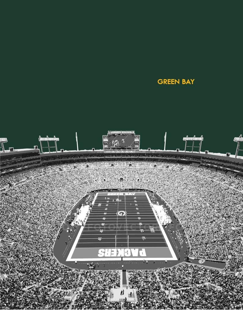 Lambeau Field Photo Picture Green Bay Packers Football Stadium Etsy In 2020 Lambeau Field Green Bay Packers Green Bay Packers Football