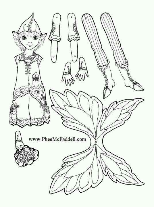 Phee Mcfaddell Artist One Of Her Puppets Free Coloring Page Paper Dolls Puppet Crafts Coloring Pages